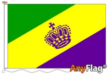 MARDI GRAS ANYFLAG RANGE - VARIOUS SIZES